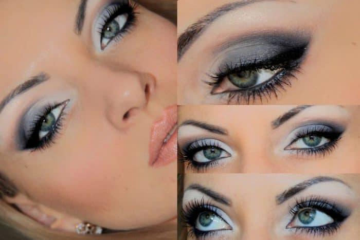 Идеи для макияжа серо-голубые глаза