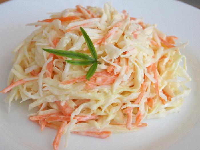 капуста и морковь салат рецепт