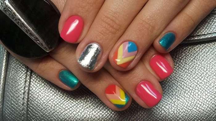 Фото гель лака на ногтях дизайн к новому году
