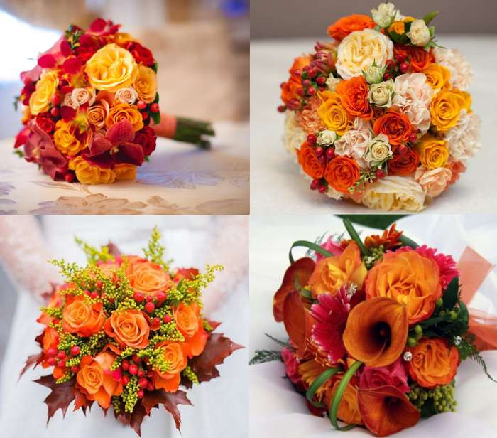 Оранжевые цветы своими руками