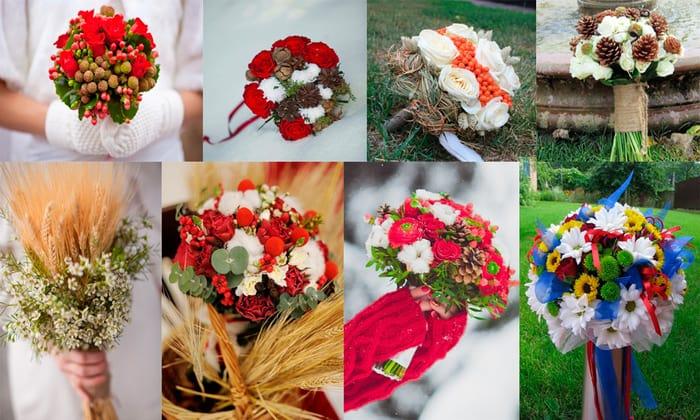 Букет невесты - цвета по сезонам