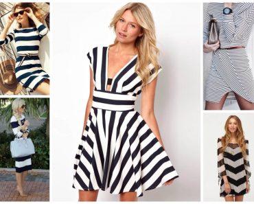 Морское платье. Платье в морском стиле для женщин и девочек летние, вечерние, с волнами. Фото, видео