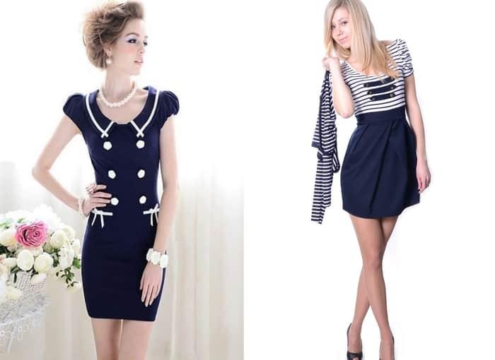 Морское платье в полоску, платье в морском стиле