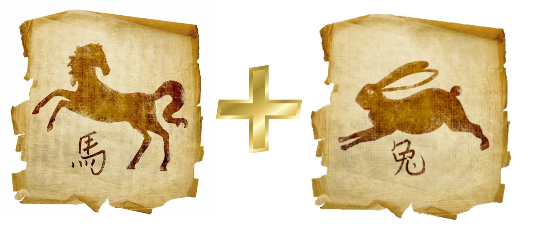 Лошадь и Кролик (Заяц, Кот): гороскоп совместимости в любви