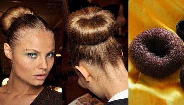 Пучок из волос - прическа