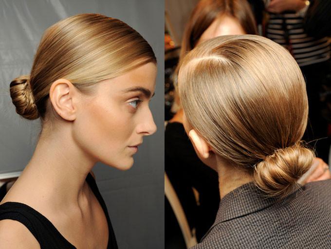 Пучок для средних волос - прическа