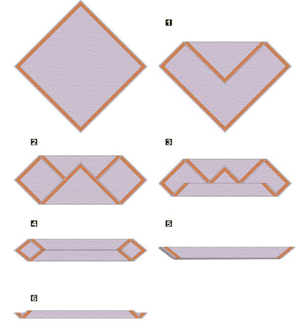 Как сложить бандану или платок
