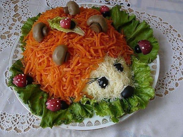 Салат поляна с корейской морковкой