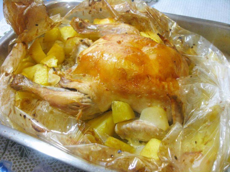 Запекание куриных окорочков в рукаве в духовке