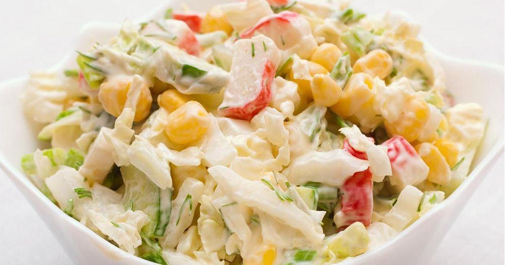 крабовый салат с рисом классический рецепт с фото пошагово