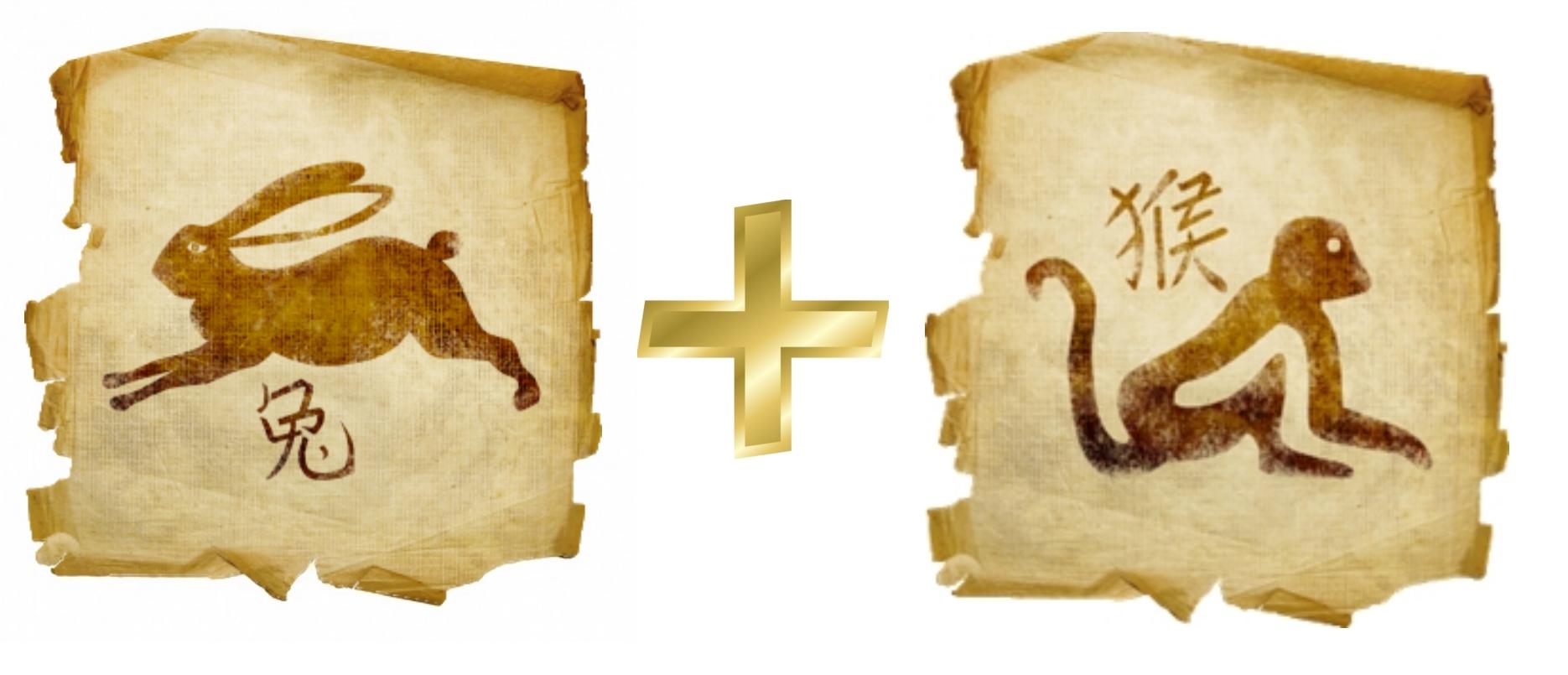 Кролик и Обезьяна: гороскоп совместимости в любви