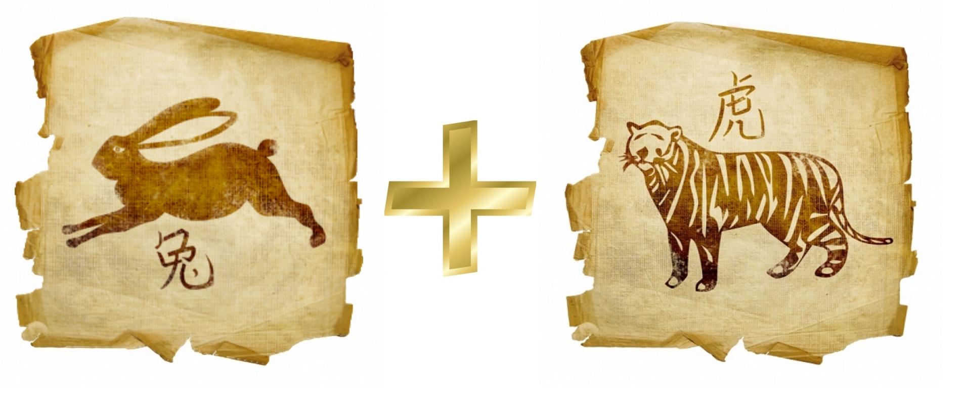 Кролик и Тигр: гороскоп совместимости в любви