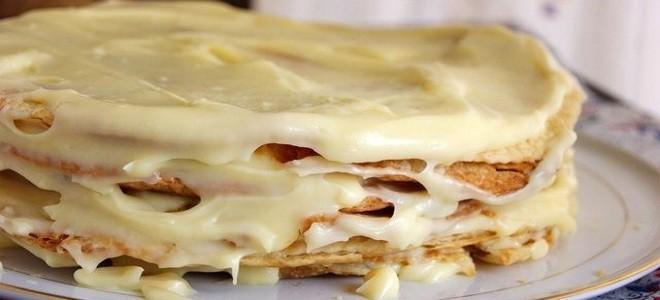 Торт из коржей в домашних условиях рецепт пошагово с 100