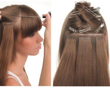 Ленточное наращивание волос на короткие волосы. Нарощенные волосы: фото до и после, видео
