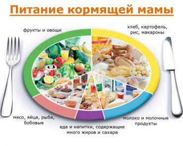 Питание кормящей матери в первые месяцы после родов, таблица режима питания. Что можно есть во время кормления грудью