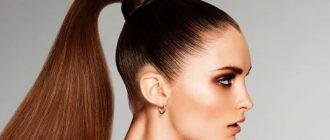 Как сделать высокий хвост самой себе на длинные и средние волосы с начесом