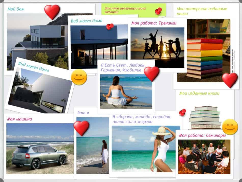 Доска желаний: как правильно сделать и оформить, примеры, фото