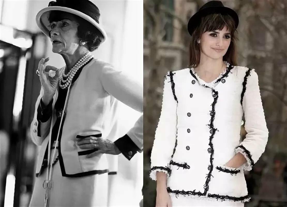 Коко Шанель - фото с пиджаком и шляпой