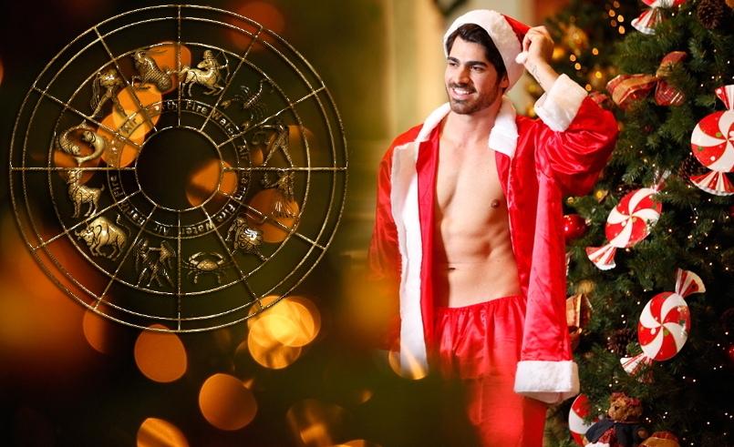 Парень в новогоднем костюме и гороскоп