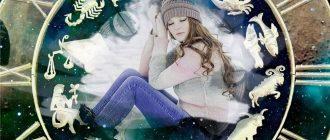 Знаки зодиака, спокойная красивая девушка в шапке