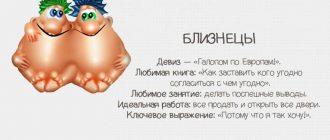 Близнецы - шуточный гороскоп с текстом на картинке
