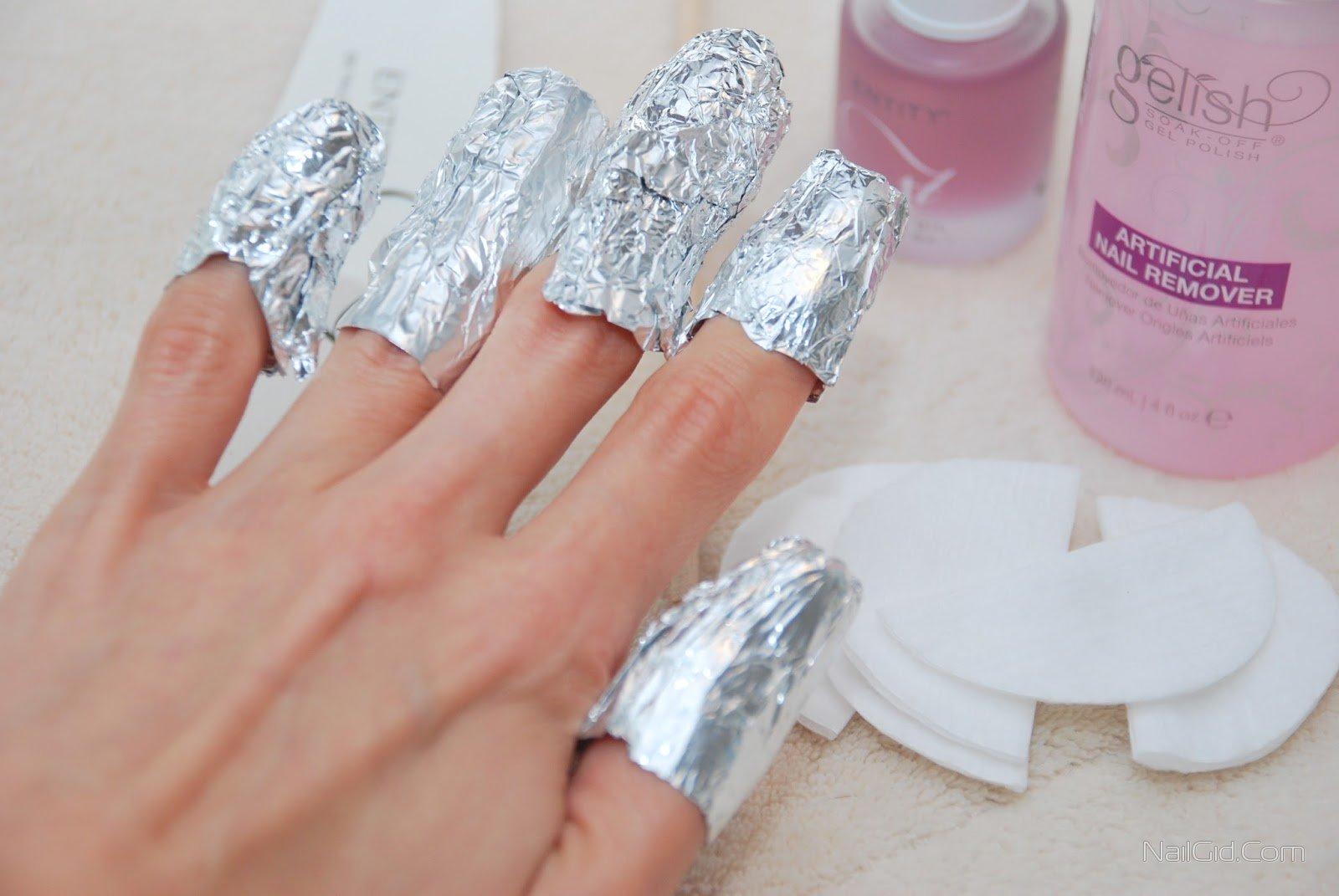 Снятие акриловых ногтей самостоятельно
