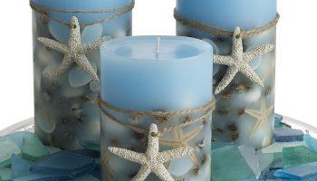 Декоративная свеча с морской звездой