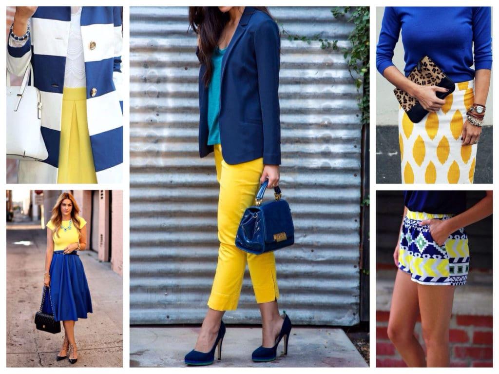Синий цвет в сочетании с другими цветами