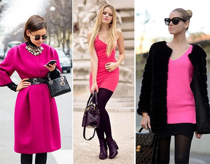 розовый с черным в одежде