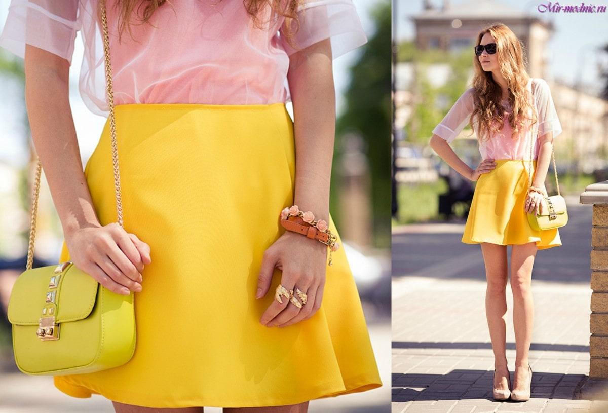 розовый с желтым в одежде