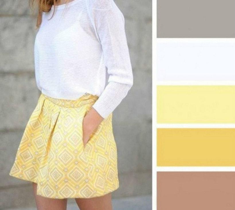 Сочетание желтого с другими цветами