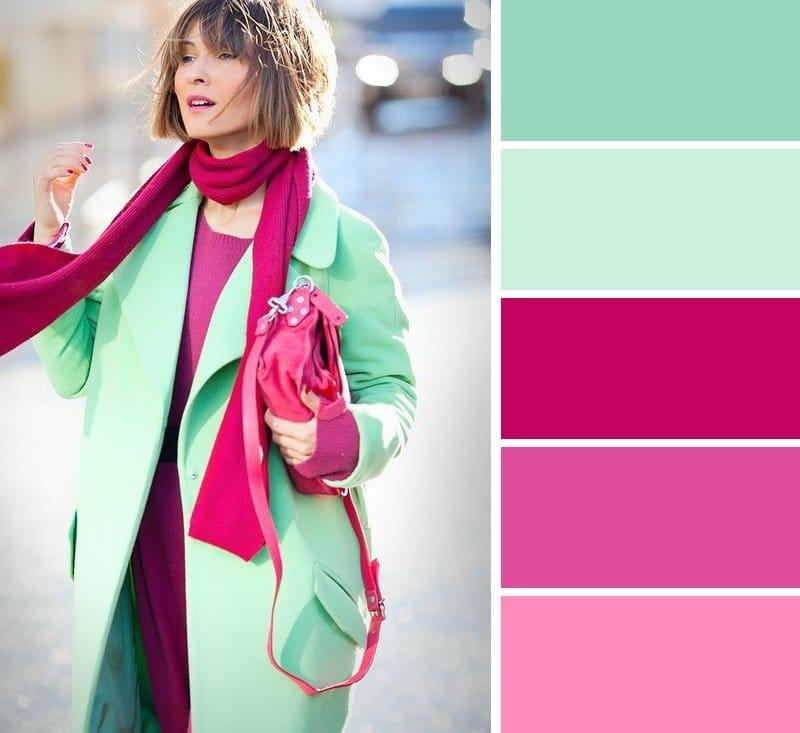 светло-зеленый в сочетании с другими цветам