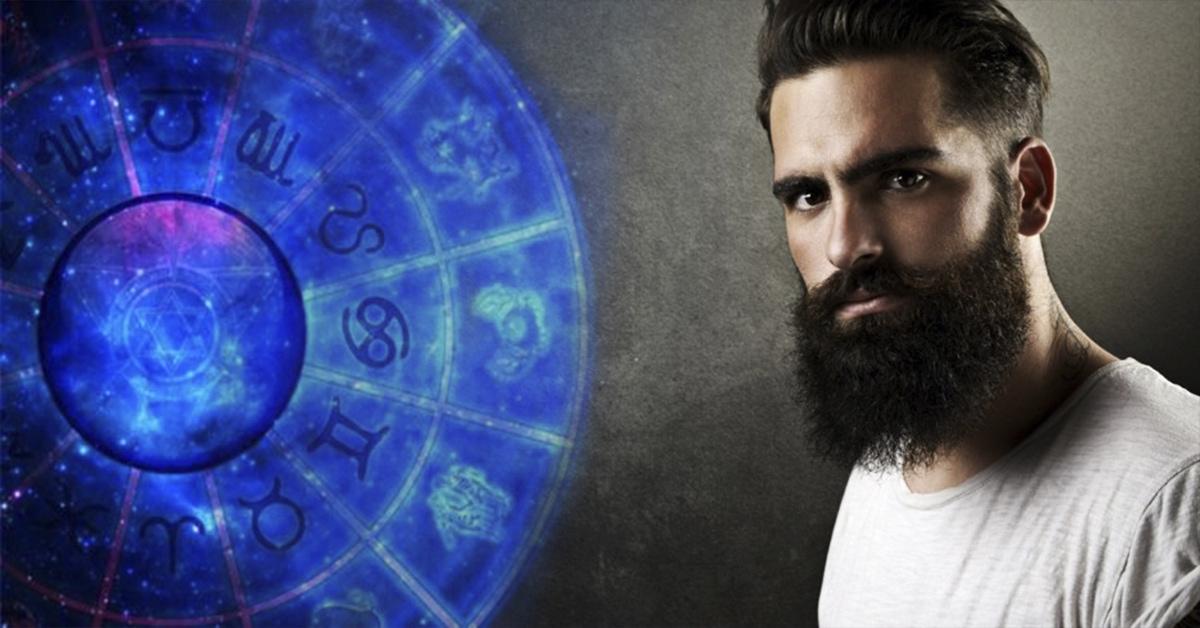 Мужчина с бородой и знаки зодиака