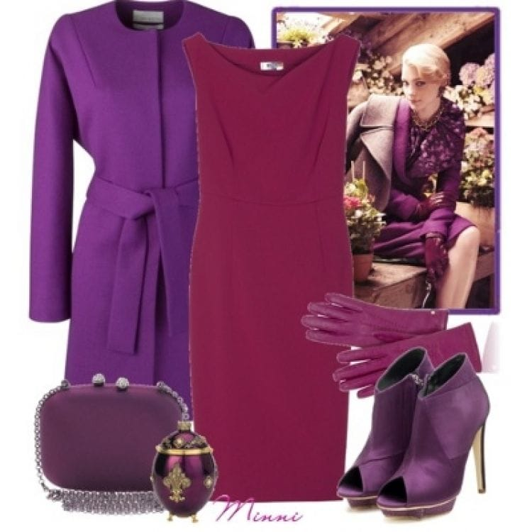Сочетания бордового с другими цветами в одежде