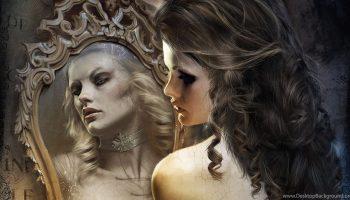 Девушка напротив зеркала, мистика