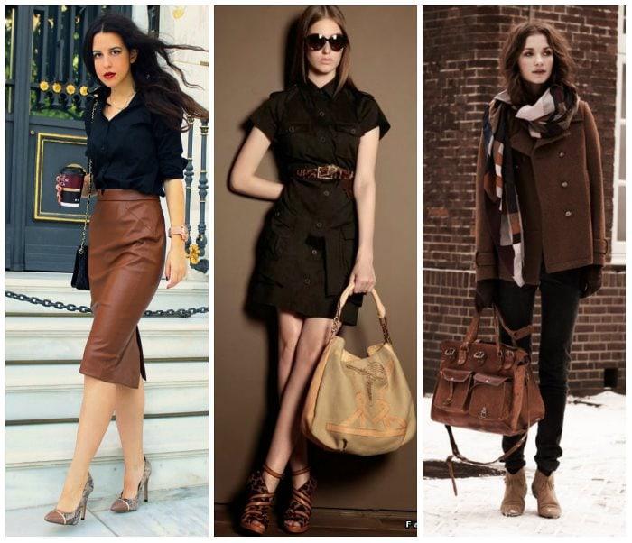 Сочетание коричневого с другими цветами в одежде