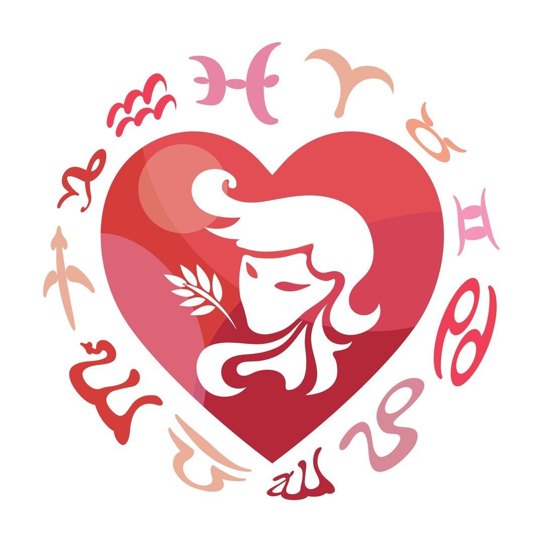 Дева в сердечке - любовный гороскоп