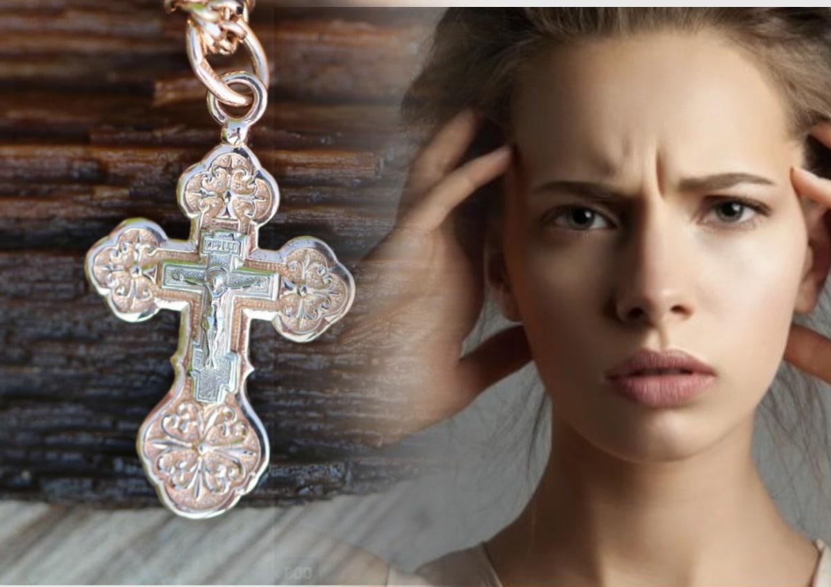 Девушка, нательный крест