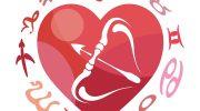 Стрелец в сердечке - любовный гороскоп